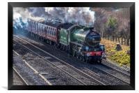 Steam engine Mayflower 61306, Framed Print