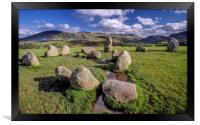 Castlerigg stone circle Keswick Cumbria, Framed Print