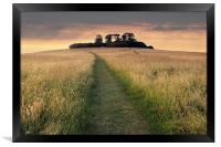 Wittenham Clumps, Framed Print