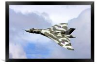 Avro vulcan bomber xh558 at Abingdon air show., Framed Print
