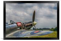 Covers Off Hawker Hurricane, Framed Print