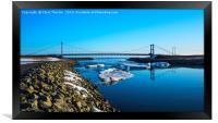 Bridge across the Ice Lagoon Iceland, Framed Print