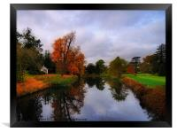 Autumn Reflections at Wrest Park, Framed Print