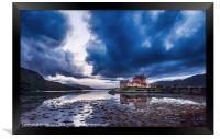 Stormy Skies Eilean Donan Castle, Framed Print