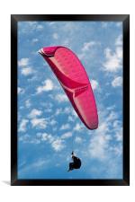 Red Canopy Paraglider, Framed Print