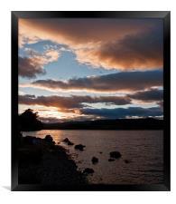 As The Sun Sets Over Loch Rannoch, Framed Print