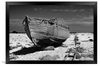 Dungeness Decayed Boat, Framed Print