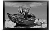 Shingle Sailor Boat Dungeness, Framed Print