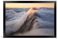 Suilven Sunrise Inversion, Framed Print