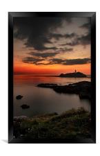 Godrevy sunset, Framed Print