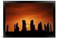 Sunset over Callanish, Framed Print
