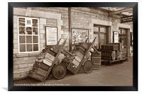 Old Luggage, Framed Print