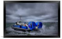 Southsea To Isle Of Wight Hovercraft, Framed Print