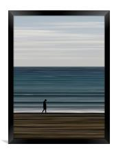 water's edge, Framed Print