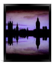 Purple London, Framed Print