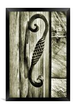 study in wood, metal and stone, Framed Print