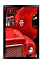 London buses, Framed Print