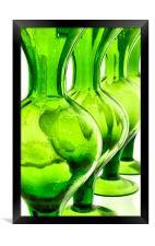 green glass still life, Framed Print