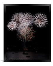 Fireworks at Plymouth, Framed Print