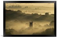 Bradninch in the Mist, Framed Print