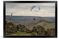 Paraglider over Rushup Edge, Framed Print