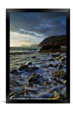 Salcombe Mouth Near Sidmouth, Framed Print