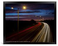 Light trails, Framed Print