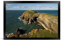 Ynys Lochtyn in Ceredigion, Framed Print