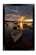 Sunset at Teignmouth, Framed Print