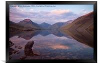 Twilight at Wastwater in Cumbria, Framed Print