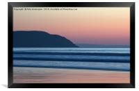 Sunset at Woolacombe, Framed Print