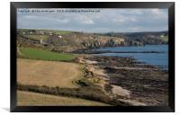 Wembury Bay in Devon, Framed Print