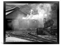Mount Snowdon Railway Yard, Framed Print