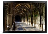 Norwich Cathedral Cloisters, Framed Print