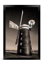 Pakenham Windmill, Framed Print