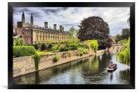 The Backs, Clare and  Kings College Cambridge, Framed Print