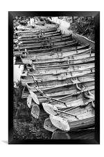 Rowboats on the Stour at Dedham, Framed Print