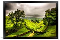 Cavedale, Castleton, Derbyshire., Framed Print