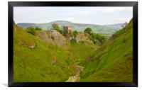 Cavedale walk at Castleton., Framed Print