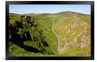 Winnats Pass Derbyshire., Framed Print