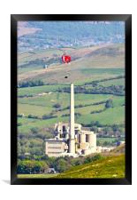 Paragliding at Castleton, Framed Print