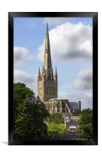 Norwich Cathedral, Framed Print