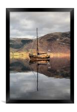 Sailing Boat On Loch Leven, Framed Print