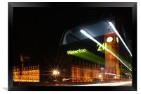 The Waterloo 211 Bus, Framed Print