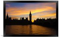 Golden Hour in Westminster, Framed Print