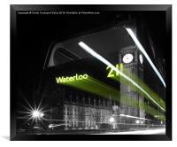 Waterloo 211 Ghost Bus, Framed Print