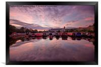 Apperley Bridge Marina, Framed Print