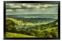 Bishopdale Painting, Framed Print