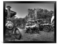 Steam Engines at Marsworth, Framed Print