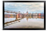 River Thames at Dawn, Framed Print